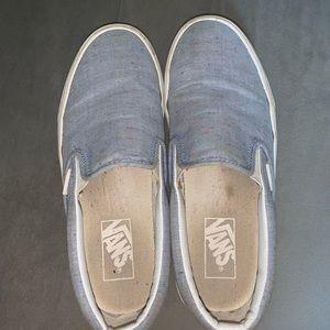 Baby blue Slip on Vans